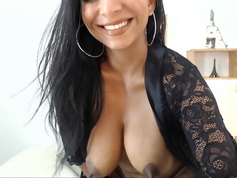 Colombian Girl Sucking Her Milky Tits
