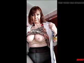 Mature Lady Shows Tits And Pussy