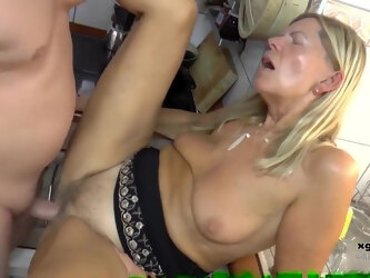 Horny blonde granny, Samantha Still is eager to get stuffed with a big, hard cock