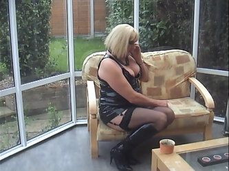 English Mature TV Escort takes a booking over the phone.