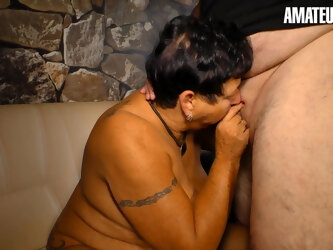 AmateurEuro - BBW Wife Angelika K. - First Time On A Porn Set
