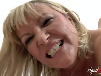 Hardcore drilling of horny mature lady with huge black cock