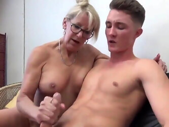 Sexy MILF with 20YO Man