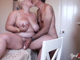 AgedLovE, Mature With Big Tits Got Rough Fuck