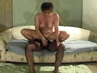 MILF creampied by a thick black rod