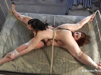 This is art, and as you can see in the first scene we have a brown haired slut tied on a char and punished with electric shocks on her pussy. Then we