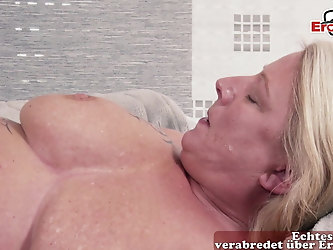 Mother fucks son - german family Sex BBW mom