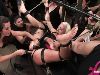 Blonde Lorelei Lee thought she could handle a rough fuck, but this was way too much for her. She used to punish and humiliate other pussy as a mistres