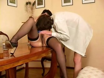 Mom sex on the table