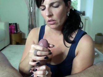 German Milf Handjob