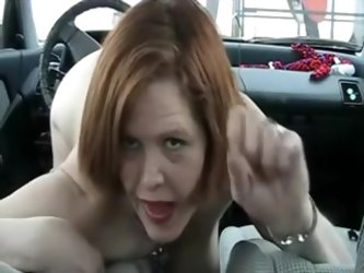 Crazy mature tells on camera she`s in love with her car. Then she rides a shifter trying to look hot and naughty