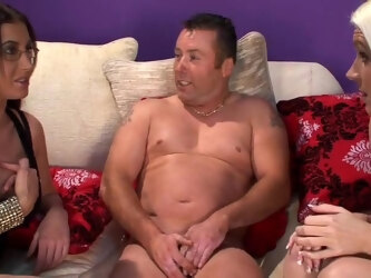 Big guy has a small dick and Emma Butt and Krystal Niles adore it