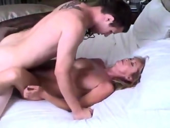 Mature stepmom let her 18yo stepson cum inside her still tight pussy