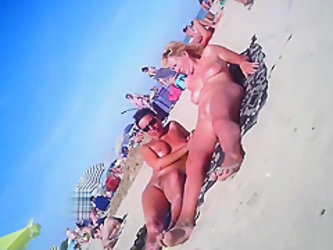 Horny Milfs Fucked By Strangers At Nudist Beach Voyeur HD