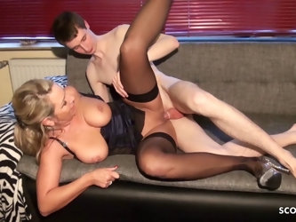 German Mom fuck Young Shy Virgin Guy Making of Special