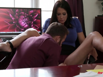 Wife Reagan Foxx craves for a massive dick of her handsome lover