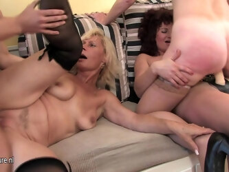 One Guy Who Loves To Fuck Three Mature Sluts - MatureNL