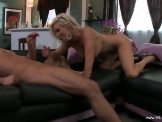 Busty blonde MILF has great sex