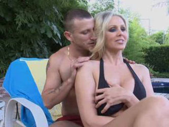 MILF Julia Ann By The Pool