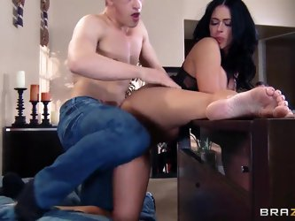 Aryana Augustine and Bruce Venture were meant to be together. Their genitals suit each other perfectly like plug and socket. Watching them at play is