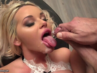 Nice blowjob makes his dick hard to penetrate her tight asshole