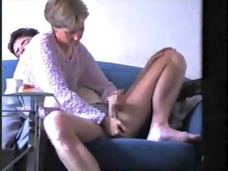 Skinny mature at home being enjoyed by an stud massaging her little mounds and receives powerful stroking from her in this homemade fun.