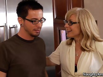 Nina catches her son's friend, Dane, playing a practical game of teabagging the whipped cream. Dane says Nina's son teabagged him in his sle