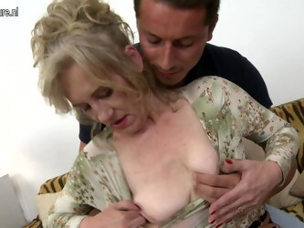 Naughty Mature Lady Fooling Around With Her Toy Boy - MatureNL