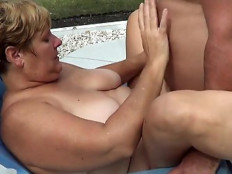 Bear fucks wife outside