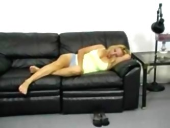 Blonde Milf Getting Her Ass Span...