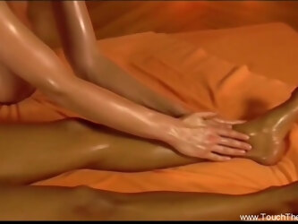 Lesbian Relaxing Massage  During Their Free Time With Fun