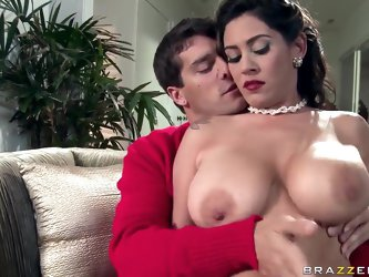 Dude! That hot Latina Raylene has got big juicy boobs and she doesn't mind demonstrating them and using, while pleasing her fuckmate Ramon with e
