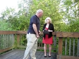Amateur granny fucked by her husband outdoors. It's hot see her waiting for him with her ass ready to be fucked. More amateur videos