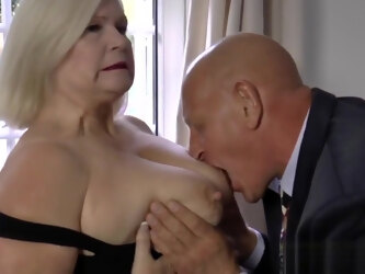 British gilf with big tits riding dick