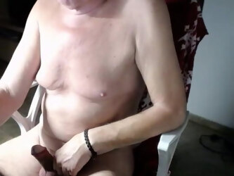 Gramps morning wood and gorgeous tits