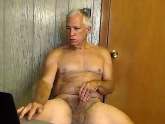 Hard hairy gramps cock-lounging