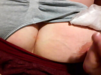 Cum on girlfriends sleeping tit