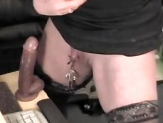 Mature woman has a huge nipples and a monster clit. Than she uses a huge dildo in her cunt. More amateur