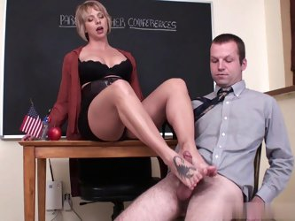 Parent Teacher footjob