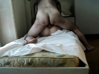 Homemade movie scene of a large curly chap fucking the brains out of his sluty wife