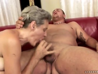 Mature madame Aliz has very sexy young neighbor who always ogles him. The man comes to her place and they have superb sex with fantastic blowjob and p