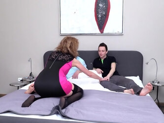 Sexy Milf Takes On Two Toyboys And Gets Nailed In Her Pussy And Ass - MatureNL
