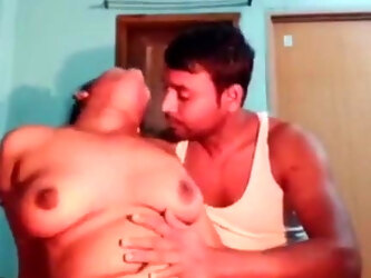 SEXY BUSTY BHABHI STRIPPING WITH HUSBAND
