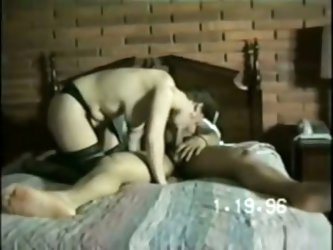 My step mature caught on sex tape with dark fellow enjoying sex with each other.