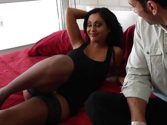 Priya Anjali Rai likes to party hard! Her son got married, and she stayed up all night and morning getting her party on. Her son's buddy Marco dr