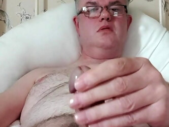 Mature wank and cum