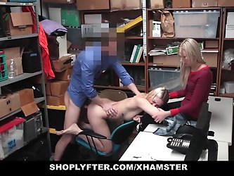 Shoplyfter - Daughter Fucks Cop For Moms Freedom