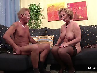 German Old Couple in First Time Porn Casting Roleplay