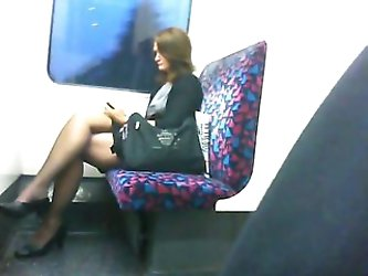 Candid Adorable Crossed Legs 2