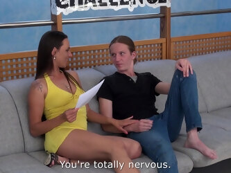 Young man is so nervous to have sex with his favorite pornstar Mea Melone